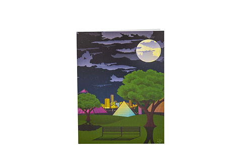 Muttart during a summer night card