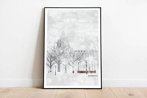 Snowy Day in YEG