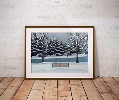 Hawrelak Park in Winter