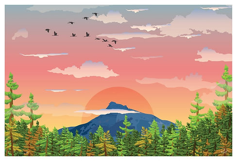 Postcard - 4x6 - Mountain 7