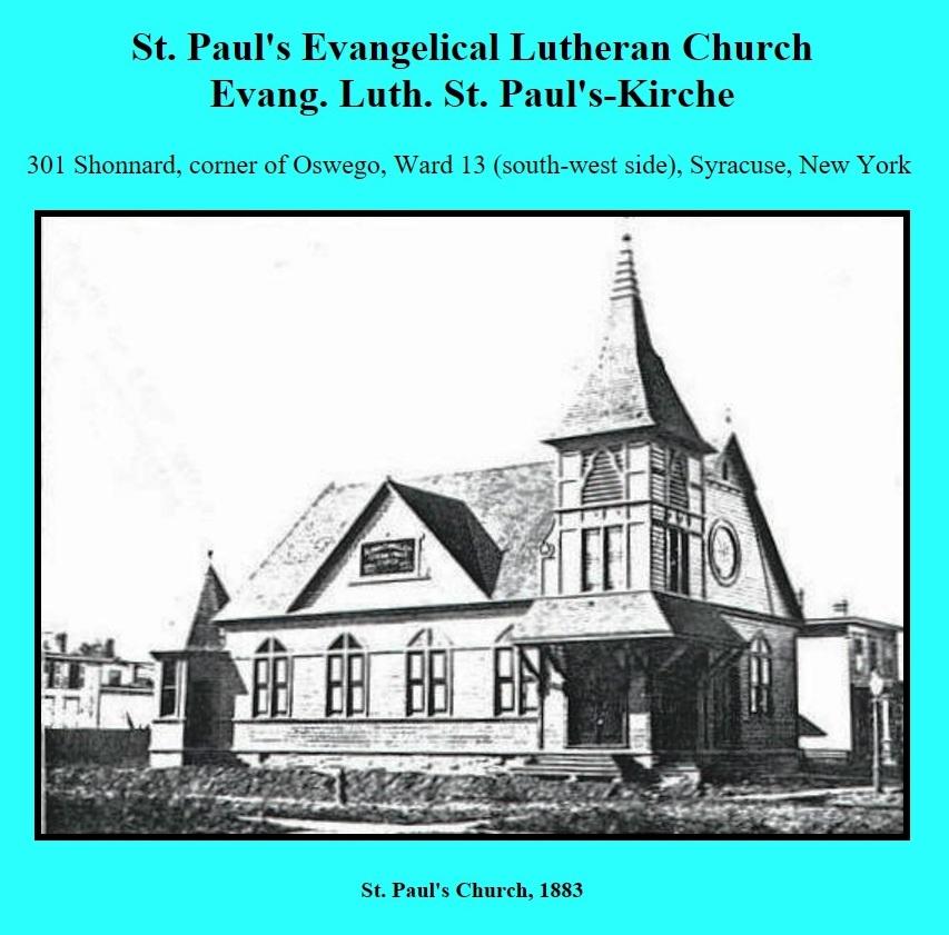 St Pauls 1883 at 301 Shonnard corner of