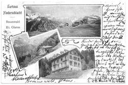 Braunwald - Alte Pension ohne Anbau – Kurhaus Niederschlacht im Urzustand