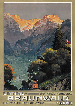 Braunwald Linthal Plakat