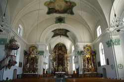 Näfels Church St. Hilarius Interior