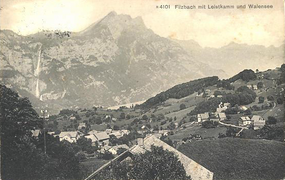 Filzbach towards Leistkamm 1920
