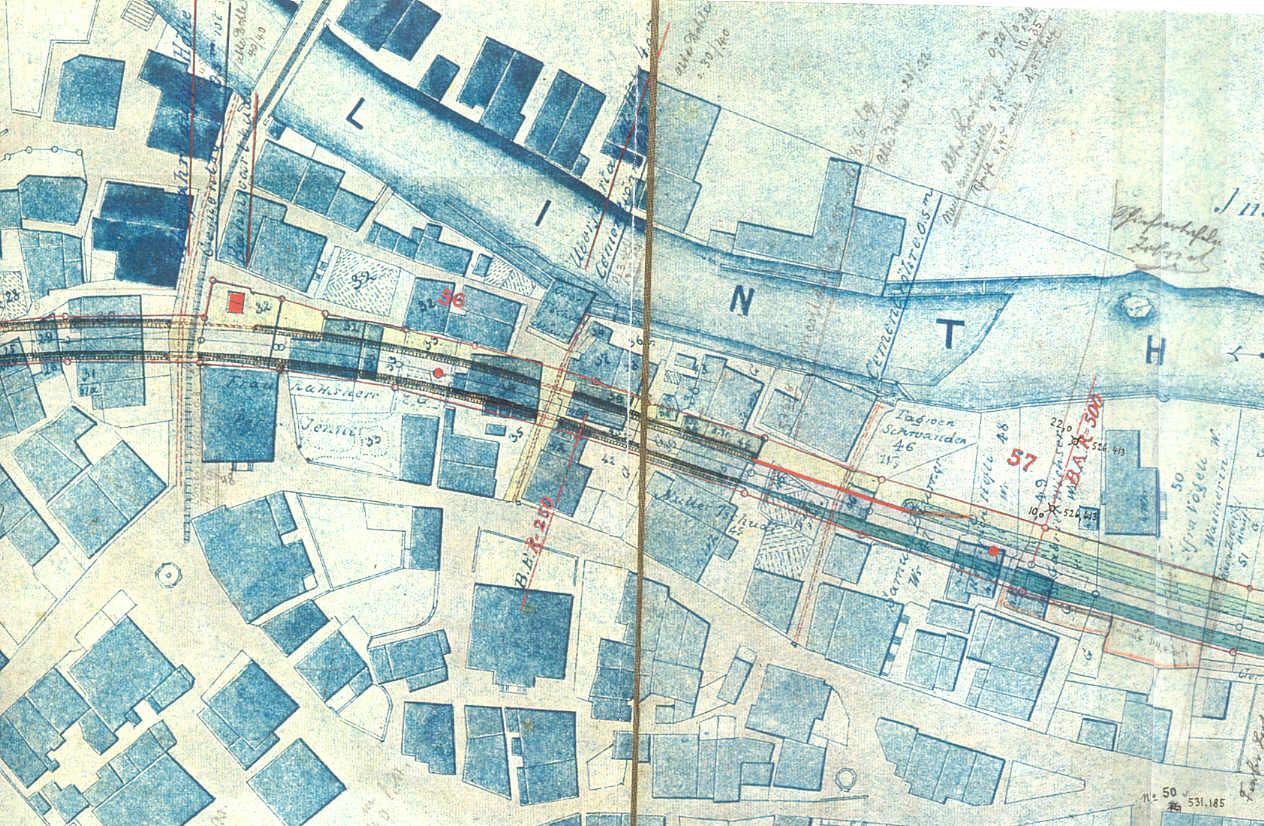 Schwanden Karte Eisenbahnbau Mitte