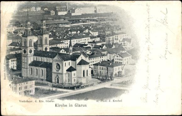 Glarus Kirche ca. 1900