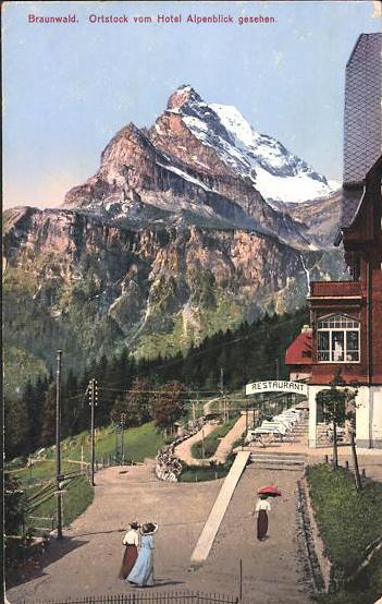 Braunwald Hotel Alpenblick 1900