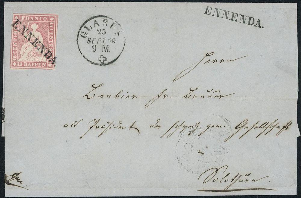 Ennenda old stamp