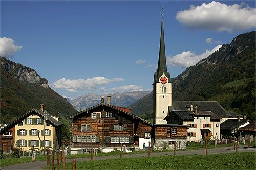 Linthal with Protestant Church