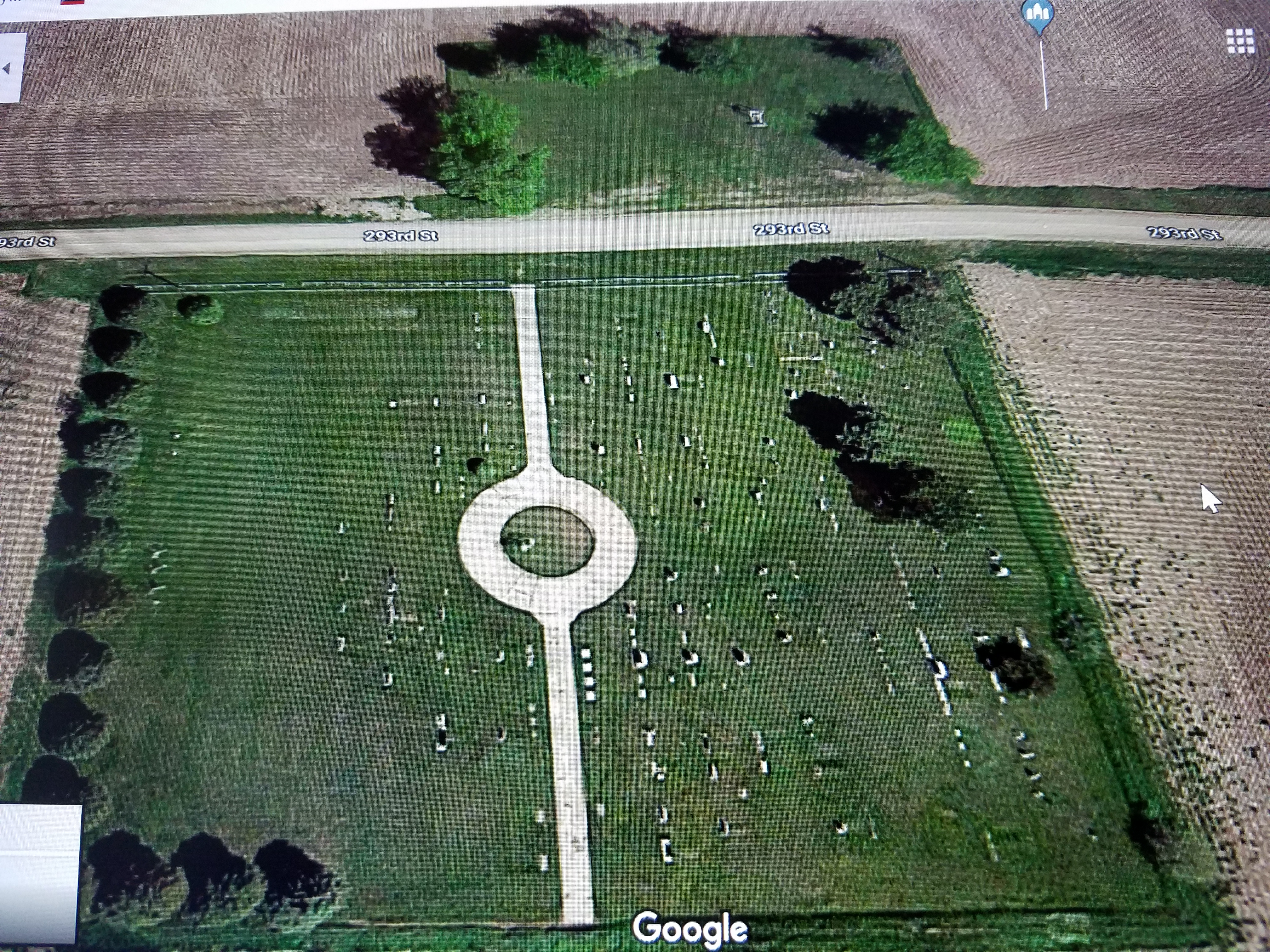 Zion Cemetery aerial view 2019