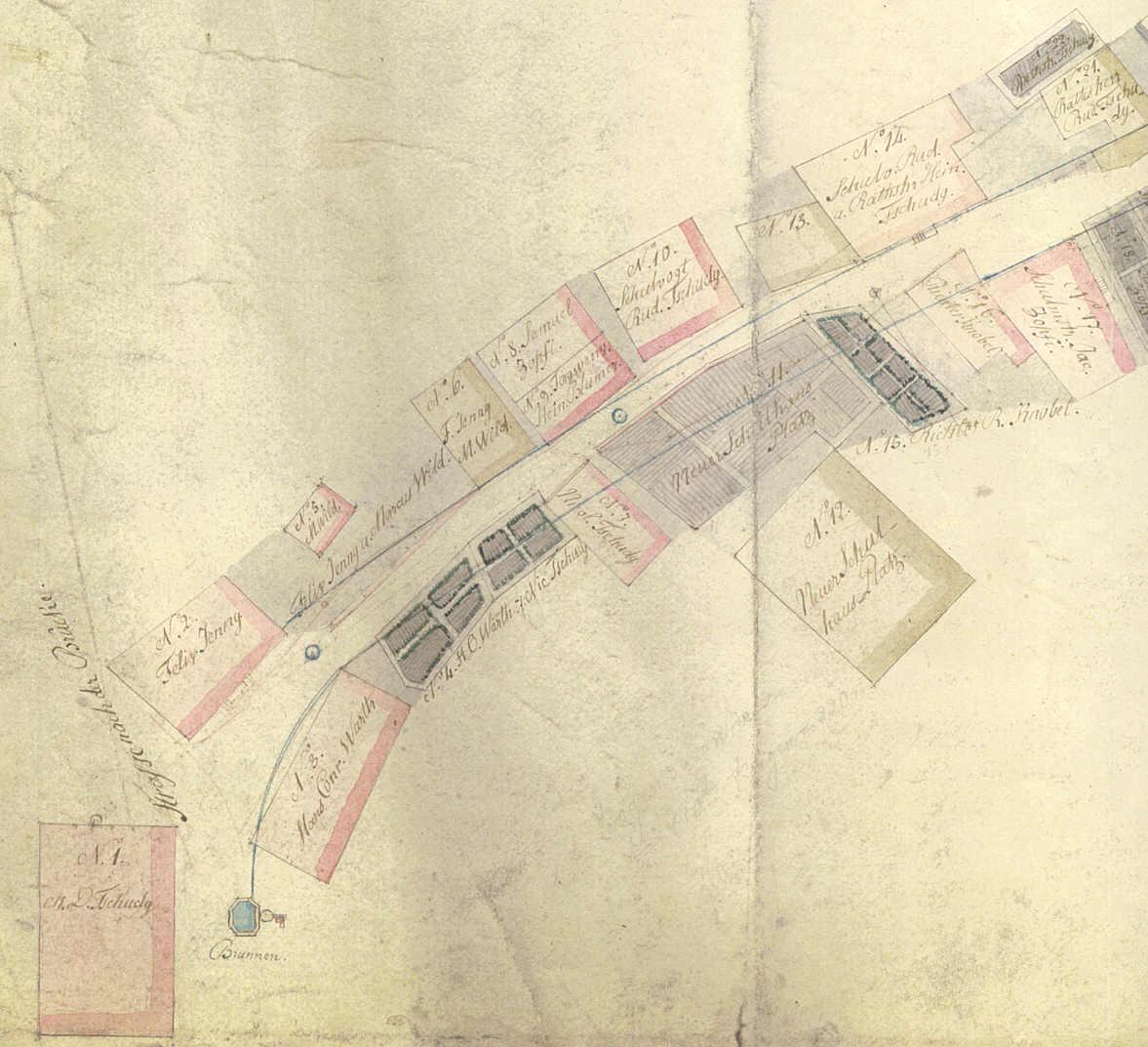 Schwanden Karte Brunnen 1837