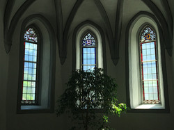 Glass plates in the Church