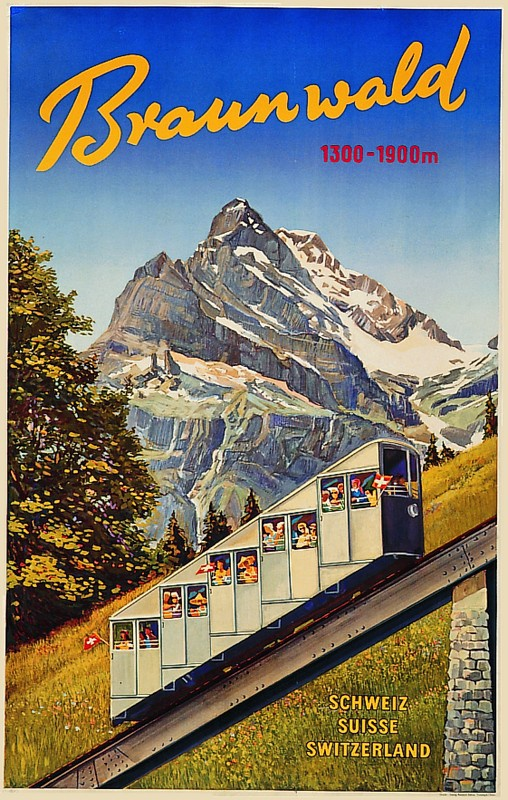 Braunwaldbahn Plakat