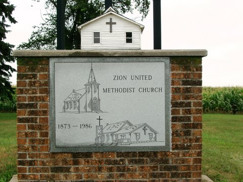 Zion United Methodist Cemetery in Beresf