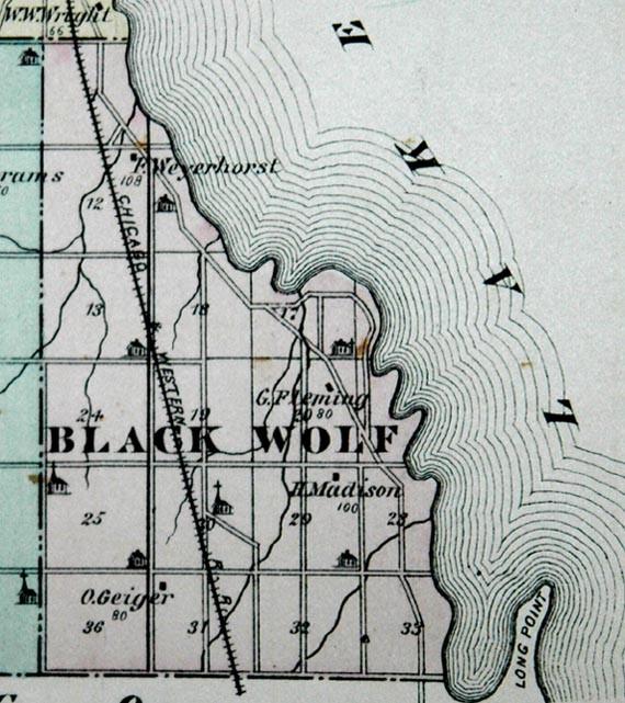 New Elm (Black Wolf) Map 1878