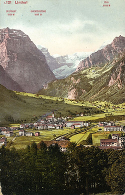 Linthal with Tödi about 1900