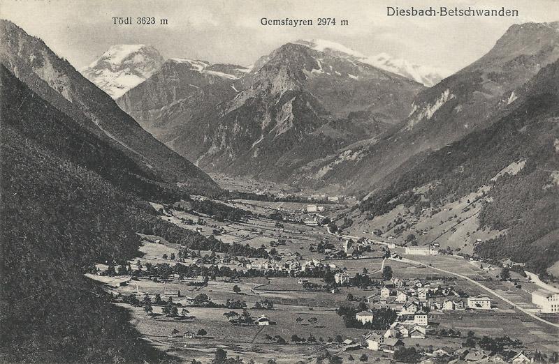 Diesbach Betschwanden about 1920