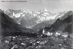 Elm and the landslide area in 1910