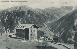 Braunwald - Hotel Niederschlacht (Urform) – alte Pension mit Anbau 1908