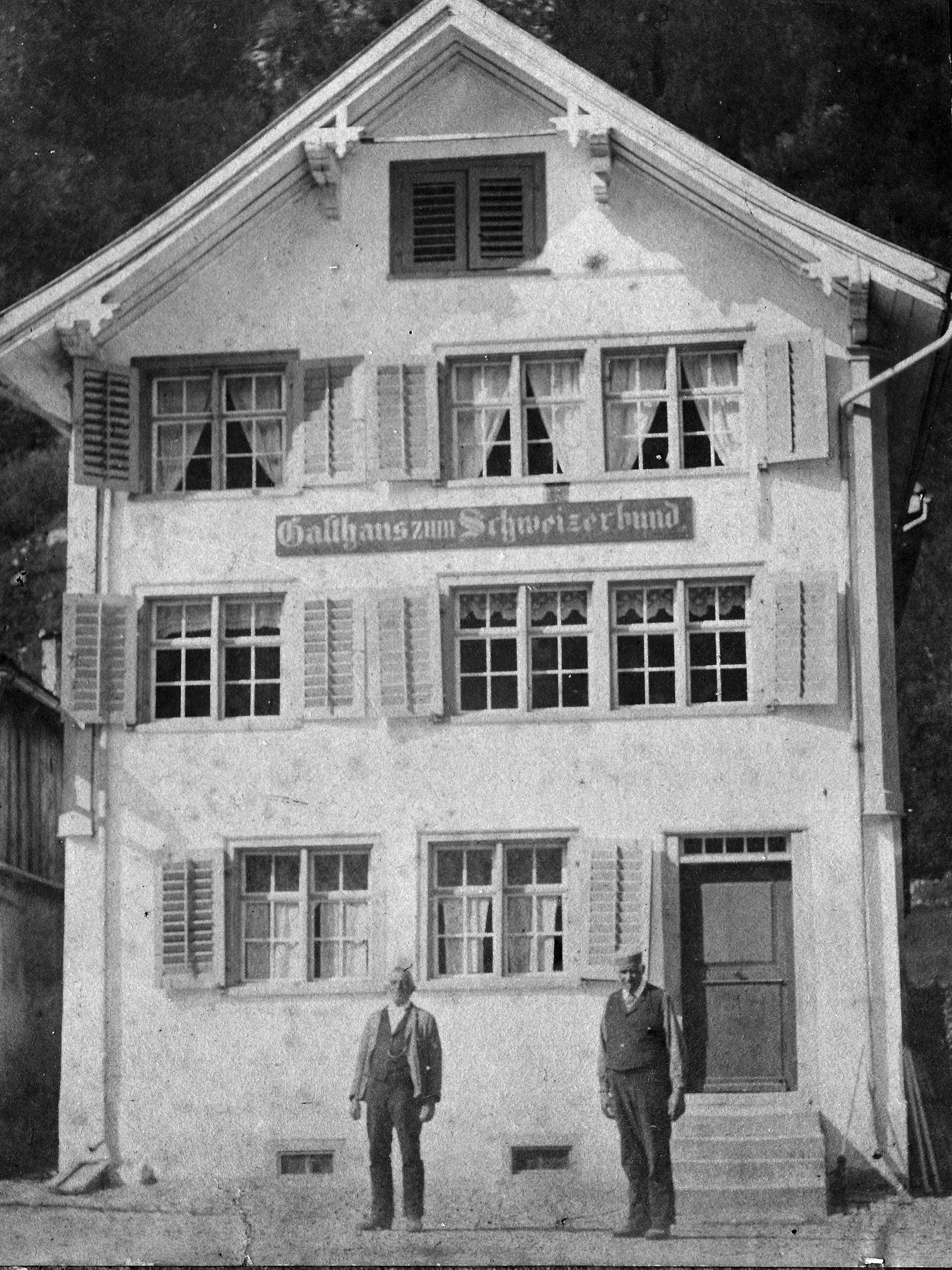 Linthal Gasthaus zum Schweizerbund ca