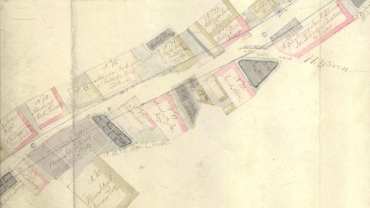 Schwanden Karte Eisenbahnbau