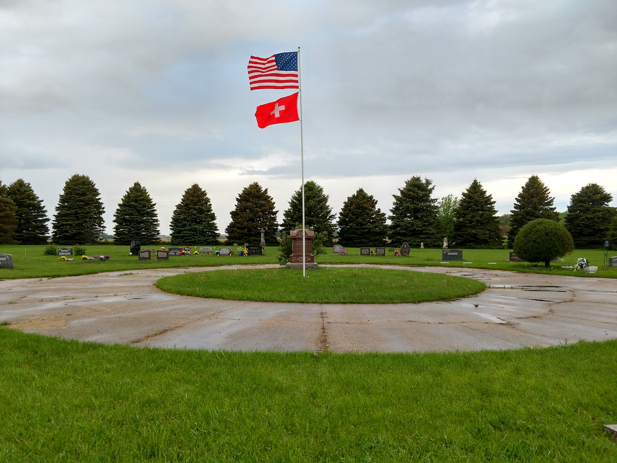 Zion Cemetery with Flag Pool