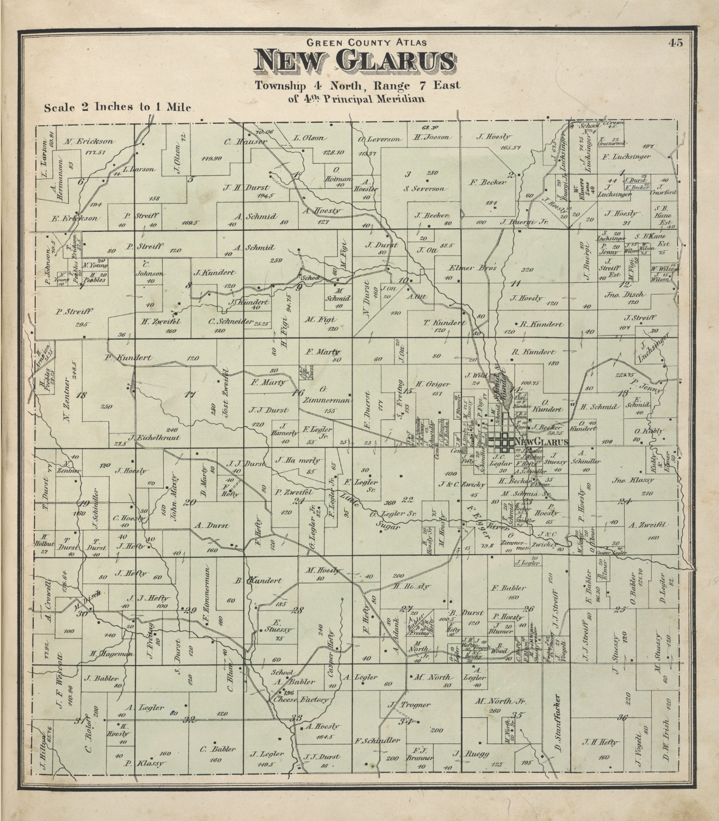 Map of New Glarus