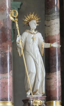 Näfels Church St. Hilarius Statue