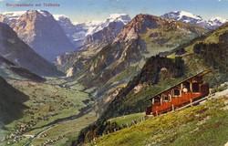 Braunwaldbahn with Tödi about_1920