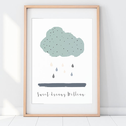 DAISY DREAM PERSONALISED PRINT (TEAL)