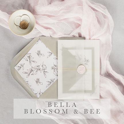 bella blosson and bee invitation suite