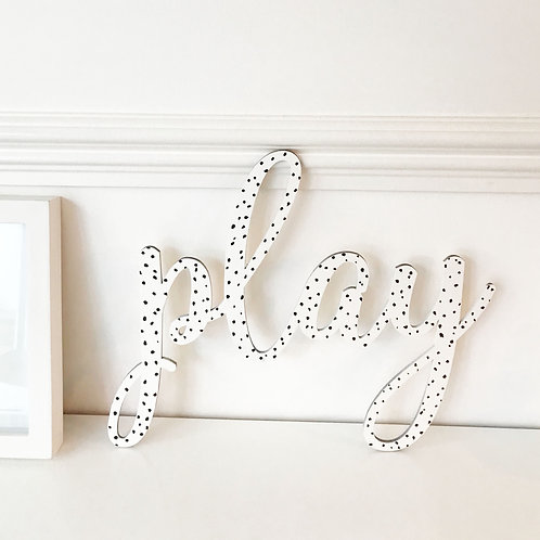 JAIME PAINTED WOODEN NAME PLAQUE (POLKA DOT)