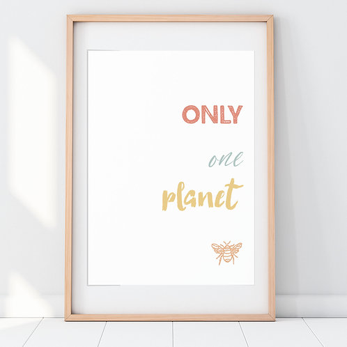 ONLY ONE PLANET PRINT (OCHRE)