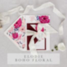 elodie boho foral invitation suite