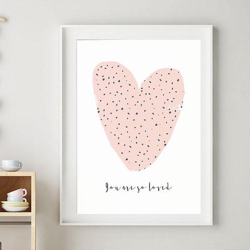 HARPER HEART PRINT (PINK)