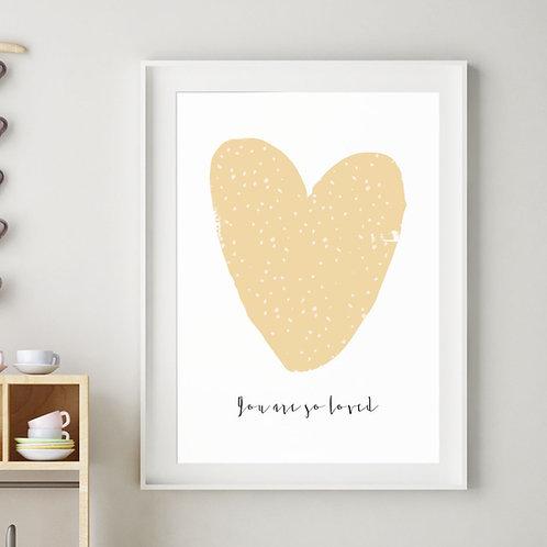 HARPER HEART PRINT (OCHRE)