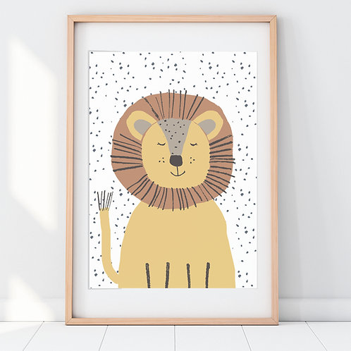 LIONEL LION PRINT