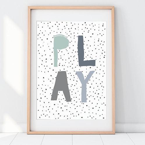 POLKA DOT PLAY PRINT (TEAL)
