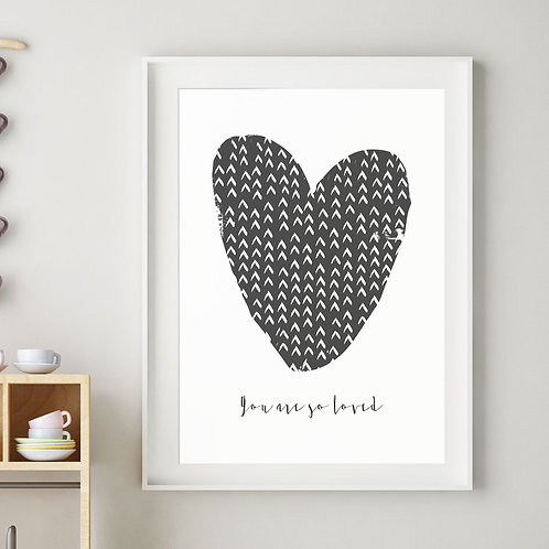 HARPER HEART PRINT (BLACK)