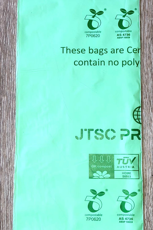 8 Gallon Compostable bags- 100 bags- Shipped Priority Mail  envelope(No Box)