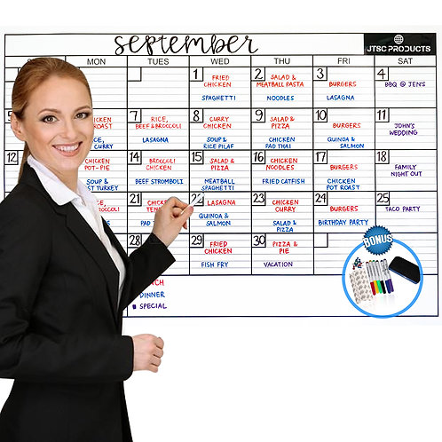 Dry Erase calendars - Monthly , Yearly and Special Edition- various sizes