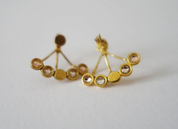 Boucles d'oreilles dessous de lobe ellipsis boudoir en vermeil et s