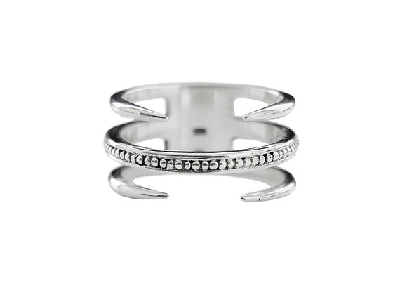 Bague Two Claw Argent