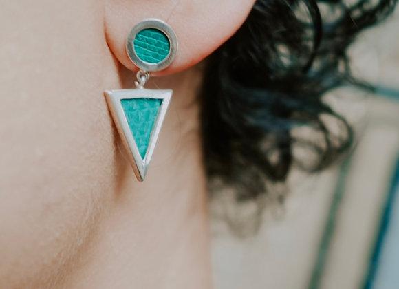Boucle d'oreille Pendulum Argent Vert