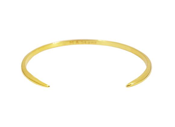 jonc ouvert double griffe en argent plaqué or