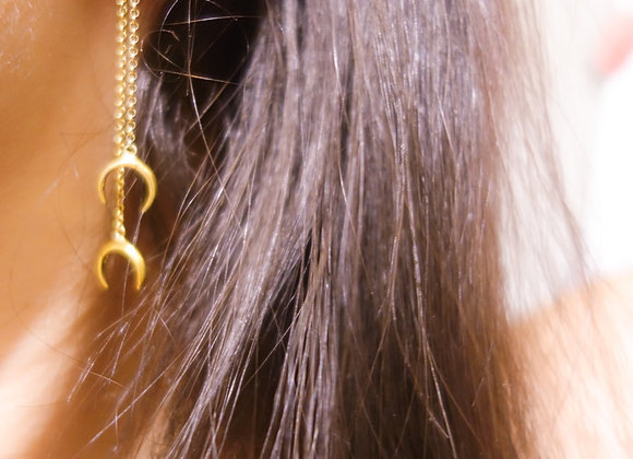 Boucle d'Oreille Claw Double Or