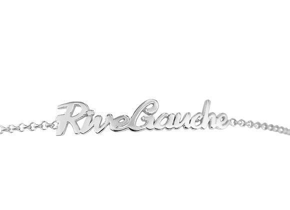 Bracelet écriture Rive Gauche en argent massif