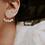 Thumbnail: Boucles d'oreilles dessous de lobe Ellipsis Or Opale Bleu