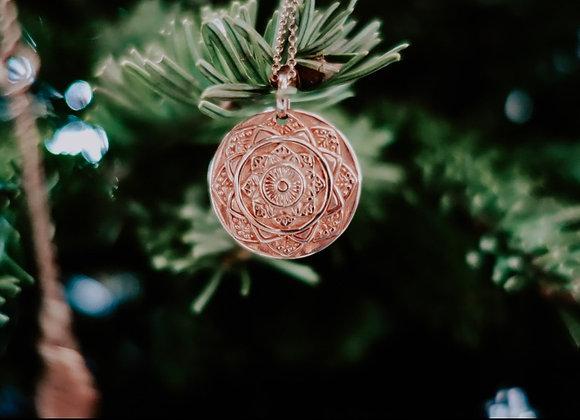 Médaille Mandala Or Rose